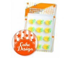 Decorazione in Zucchero per Dolci Limone Sapori Artigianali pz.12