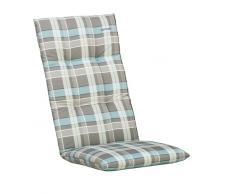 Kettler 0309901-8770 pieghevole sedia a rotelle cuscino blu/plaid grigio 120 x 48 x 8 cm
