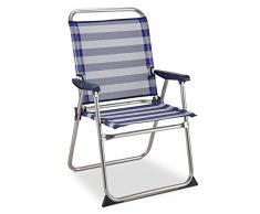 Solenny 50001072725229 - Sedia Marinera fissa con schienale alto blu