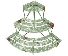 Esschert Design Piante da Balcone Scale, mensola Fiori in Stile Vintage, Quarto Turno, di Circa 50 cm x 51 cm x 75 cm