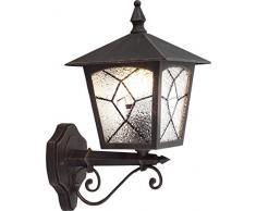 Lampada Per Esterno Colore Ruggine Tiffany 1X60W E27 230V Ip44 Art. 3126