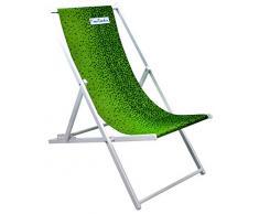 Pierre Cardin L.Tropic V, Sdraio Pieghevole Marsiglia, Spiaggia Giardino Piscina, Fantasia Tropical Verde, 58x128x48, Taglia Unica