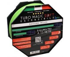 Magic Soft 7,5 MT-Tubo Estensibile Giardino Fino a 3 Volte la sua Lunghezza iniziale Tubo Elasticizzato per giardino leggero Estensibile Flessibile Senza Nodi e Grovigli Tubo Irrigazione