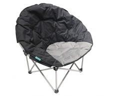 Homecall Poltrona pieghevole da campeggio colore nero/grigio