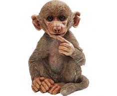 KARE - Statuetta Decorativa a Forma di scimmietta, Colore: Marrone