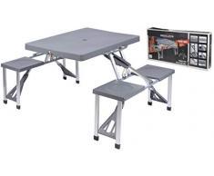 OEM 047625 - Tavolino Portatile E Pieghevole per Picnic O Campeggio con Sedie da Barbecue