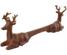 Esschert Design di Scarpe Raschietto zerbino Cervo Motivo in ghisa, Circa 42 cm x 8,2 cm x 14 cm