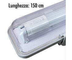 Plafoniera Tubi Led 150 Cm : Plafoniere led color trasparente da acquistare online su livingo