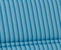 Kettler 0309004-8711 Garden Lounger Cushion 200 x 60 x 3 cm per Tessuto-Backed alluminio Mobili da giardino di luce Blue Stripes