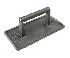 Charcoal Companion CC5024 Pressa in Ghisa Rettangolare per Barbecue, Nero, 8.99x11.3x22.4 cm