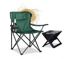 Relaxdays 10020933_53 Sedia, Schienale Imbottito, Braccioli, Verde, 50x79x80 cm