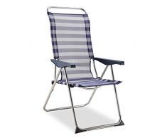 Solenny 50001072725182 – Poltrona a 5 posizioni, schienale anatomico, colore: blu e bianco