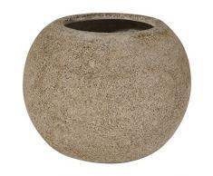 hydroflora 62000170 vaso Vase the World Gobi in Fiberstone diametro 35 x 28 cm, colore sabbia
