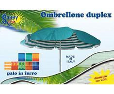 Nuovo Ombrellificio Romano STC0472 Ombrellone Duplex con Sacca, Verde