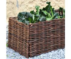Noor letto rialzato lettino da giardino letto vegetale di salice 100x40x40cm incl