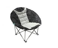 Homecall Poltrona pieghevole da campeggio taglia XXL colore nero/crema