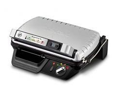 Tefal SuperGrill XL GC461B Grill da Tavolo Elettrico, Metallico, Barbecue e Bistecchiera, 2400 W, Nero