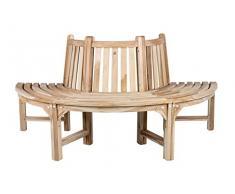CHICREAT - Panchina semicircolare per albero, realizzata in legno di teak, circa 180 cm di larghezza