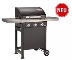 Landmann, barbecue Rexon 3.0 con bruciatore a gas, colore nero, 12229