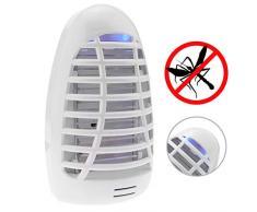 PrimeMatik AH09-VCES Presa lampada antizanzare uccide zanzare mosche insetticida elettrico (AH09) Nero