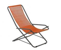 fiam 123TX Anar - Poltrona per Giardino Relax, in Acciaio, Dimensioni: 63 x 96,5 x 79 cm, Colore: Arancione