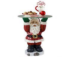 Decorazioni di Natale - Natale di vetro di Santa Ricoperto vacanze Decor Side Table