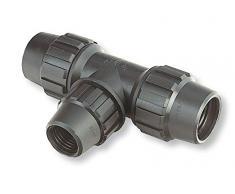 ABRISA Te fitting di riduzione per tubo di irrigazione, nero