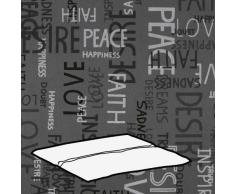 Kettler 0309003-8575 - Cuscino per Sgabello, 48 x 48 x 3 cm, Motivo Scritte, Colore: Grigio Chiaro