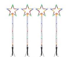 WeRChristmas collegabile statico Star Via luci di Natale Multicolore, Set da 4, wrc-8716