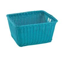 King Home C1567098/D Cesta Joy in Vimini Sintetico, Blu, 40X34,5X22H