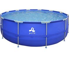 Jilong 17263EU Piscina Rotonda con Struttura 450 * 122Cm, Blu