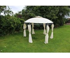 Kingfisher crema 3.5 m rotondo Shelter mobili gazebo da giardino tendone