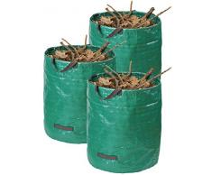 Maestro Sacco per Rifiuti da giardino ✓ 272 L ✓ Set ✓ Ø 670 mm x 770 mm ✓ PP Materiale ✓ resistente ✓ resistente alle intemperie ✓ lavabile | Sacco da giardino sacco per rifiuti | | Spring Sack | Pop Up Sacco | 9961810
