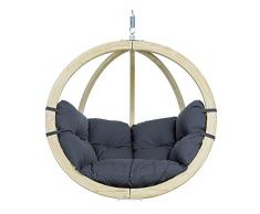 Amazonas Hammock AZ-2030808 Poltrona Pensile Globo Chair, Antracite, Grigio Scuro, 69x118x121 cm