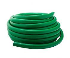 Werkapro - Tubo di irrigazione scanalato, Ø 15 mm, 20 m, Colore: Verde