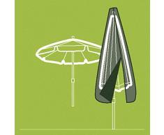 Siena Garden Copertura per ombrellone con Asta, Tessuto di Poliestere Oxford, 3 – 3,5 m, Antracite/Grigio