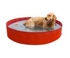 New Plast My Dog Pool Ø 220 cm Piscina per Cani, Arancione, 35.5x15x5.5 cm