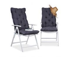 Cuscini Con Schienale Per Sedie Da Esterno : Cuscini da giardino color grigio da acquistare online su livingo