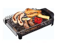Jata BQ101 Elettrico - 2400W Nero Barbecue e bistecchiera