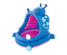 Bestway Hippo, Piscina gonfiabile coperta, motivo: ippopotamo, 112 x 99 x 97 cm