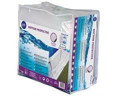 Gre MPR250 - Tappeto di protezioneper piscina rotonda di 240 cm di diametro, colore bianco