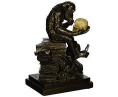 Design Toscano La teoria dellevoluzione umana di Charles Darwin Statuetta Animale, poliresina, finitura color bronzo, 20,25 cm