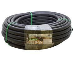 M&Ms S&M 012433 - Tubo da irrigazione in polietilene, 32 x 6 ATM, 50 m, Colore: Nero