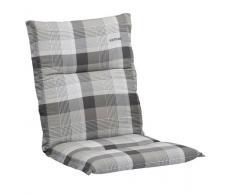 Kettler 0309405-8725 - Cuscino per sedia, 100 x 50 x 7 cm, colore: Quadri nei toni del grigio