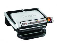 Tefal OptiGrill GC716D Barbecue per laperto e bistecchiera 2000 W Grill Elettrico da Tavolo Nero, Metallico