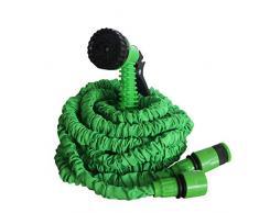 Hortus - Tubo di irrigazione Estensibile Fino a 30 Metri, 7 getti, Colore: Verde