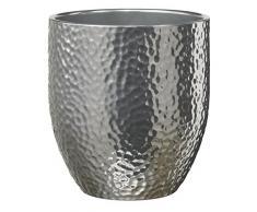 Soendgen 0120/0014/1874 - Vaso per Orchidee in Ceramica Boston Metallic, 13 x 13 x 14 cm, Colore: Argento