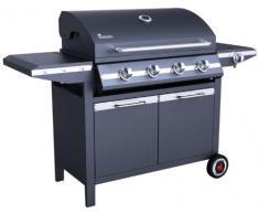 Landmann 12754 Grill Carrello Gas 16000W Nero Barbecue e bistecchiera