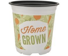 Il vaso per piante da casa con motivi geometrici 10 x Round 9 cm di Nutley è realizzato in plastica, verde, 9 x 9 x 14 cm