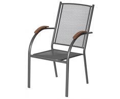 Dajar sedie Sedia di Metallo Ambra, Antracite/Grigio